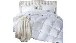 Luxurious FullQueen Size Siberian Goose Down Comforter, Duvet Insert, 1200 Thread Count 100%