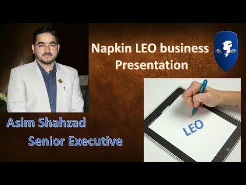 Napkin LEO business Presentation by Asim Shahzad