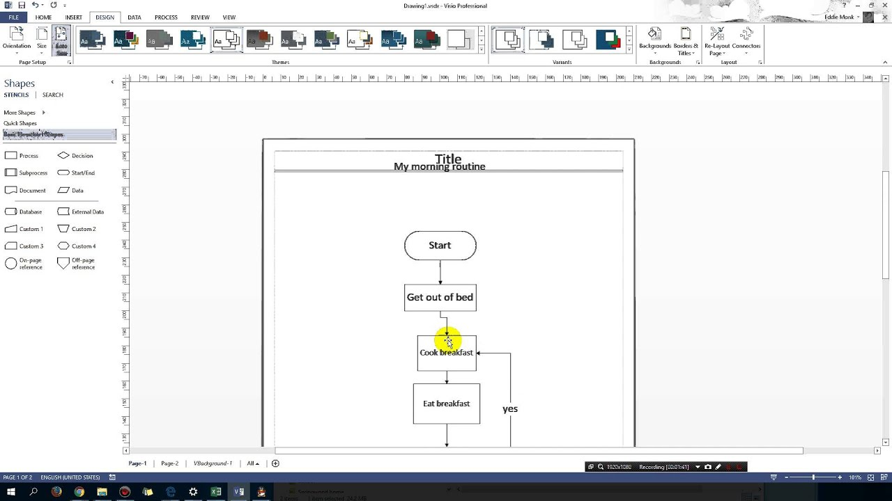 Image result for microsoft visio footnote
