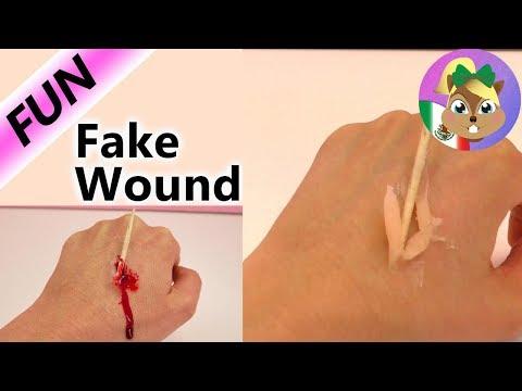 Cómo hacer una herida de mentira