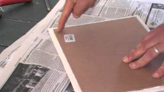 Mounting Paintings on Gessoed Paper or Unstretched Canvas to Hardboard