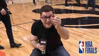 Steve Dangle decided to head down to Scotiabank arena to check out what the 2019 NBA Finals Media day was all about...Enjoy!