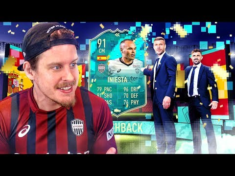 WE FINALLY GOT HIM! 91 FLASHBACK INIESTA PLAYER REVIEW! FIFA 20 Ultimate Team