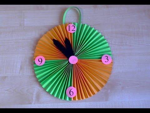Как сделать часы из бумаги своими руками. Детские поделки в школу. Оригами. DIY