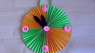 Как сделать часы из бумаги своими руками. Детские поделки в школу. Оригами.