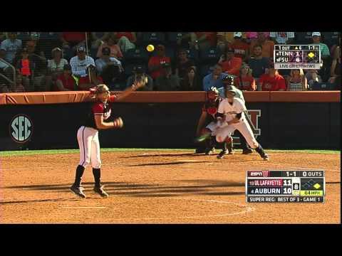 Auburn Softball vs Louisiana-Lafayette Game 1 Highlights