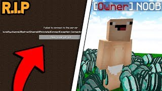 GIVING NOOB OWNER AND HE DELETED MY SERVER! (Minecraft Trolling)