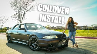 homepage tile video photo for R33 SKYLINE GETS NEW COILOVER SUSPENSION!