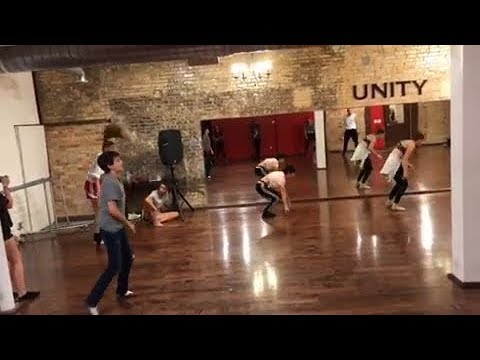 Joshua Rush dance class with Peyton Elizabeth Lee