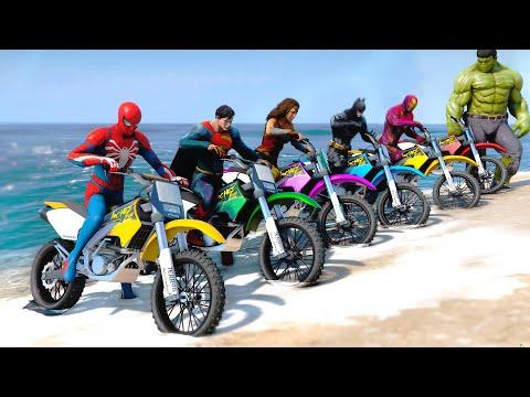 Superheroes Dirt Bike