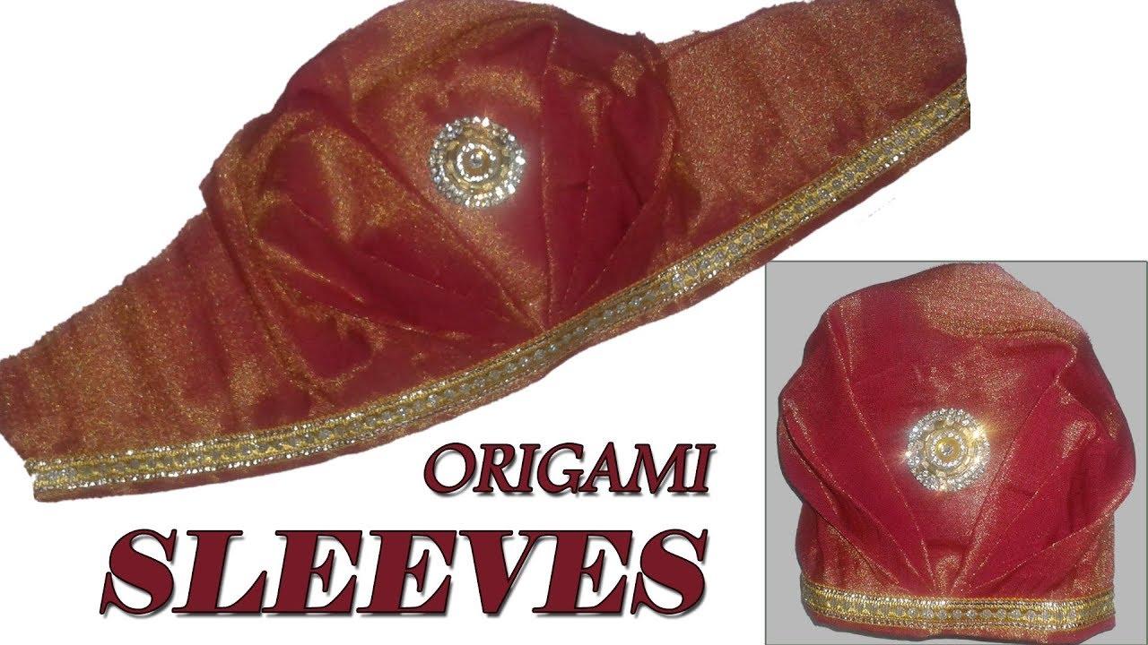 Origami designer sleeves bridal sleeves cutting and stitching at origami designer sleeves bridal sleeves cutting and stitching at home sleeves tutorial in telugu jeuxipadfo Gallery