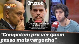 """Caio Coppolla sobre """"censura"""" do STF: """"Moraes e Toffoli competem pra ver quem passa mais vergonha"""""""