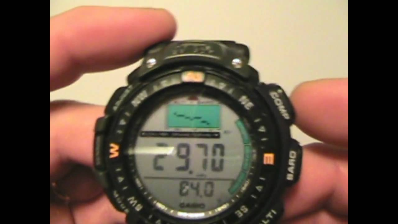 casio pathfinder pag 40 watch review youtube rh youtube com Casio PAG-40 Parts Casio PAG-40 Battery Replacement
