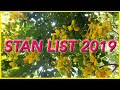 My Stan List 2019