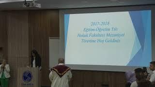 Sakarya Üniversitesi Hukuk Fakültesi Mezuniyet Töreni