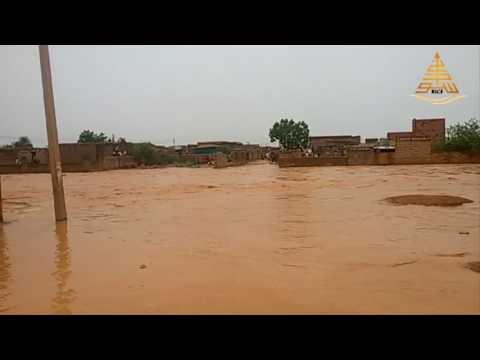 سيول وأمطار السودان أغسطس 2017 بمنطقة القيعة والصالحة جنوب أمدرمان