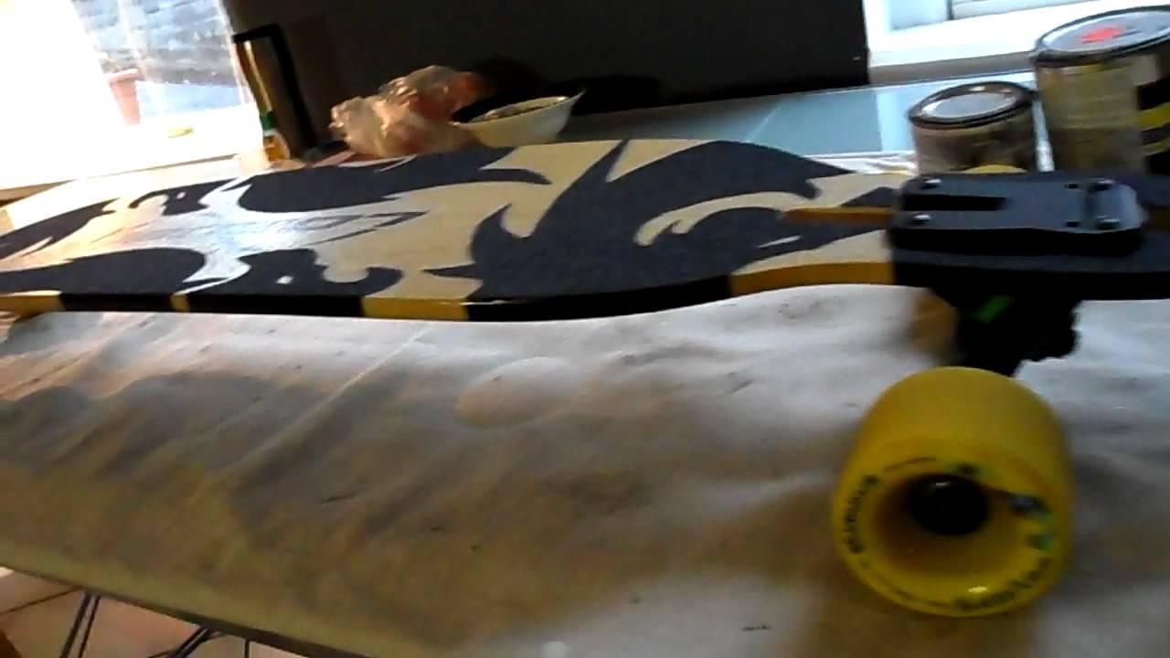 Custom Grip Tape on Loaded Dervish Video 2