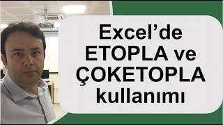 Excel ETOPLA ve ÇOKETOPLA İşlevi- Ömer BAĞCI- 012