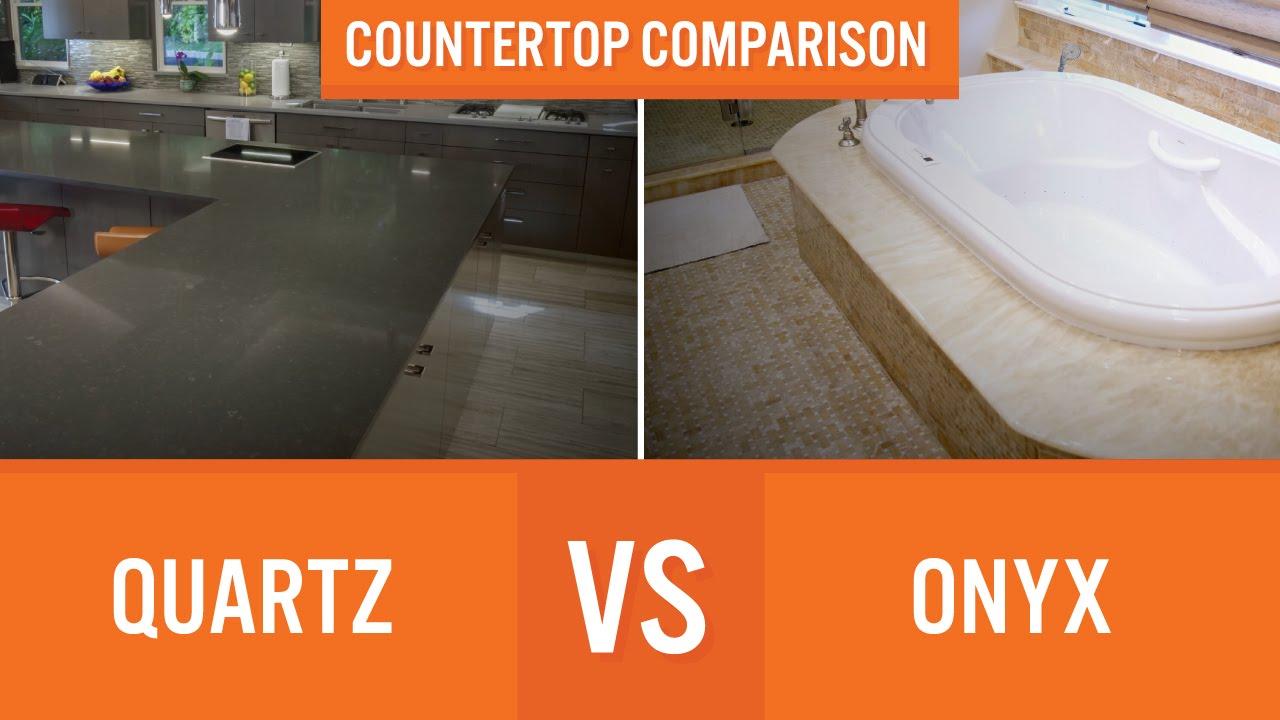 Quartz Vs Onyx | Countertop Comparison. Marble TVChannel