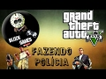 GTA V online com amigo fazendo polícia.