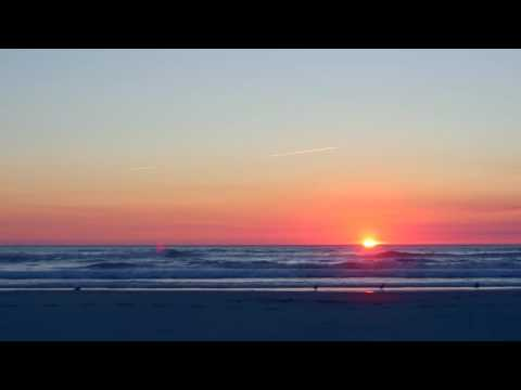 Watch the Sunset With Me ~ ASMR Whispering and Ocean Sounds ONLY ~