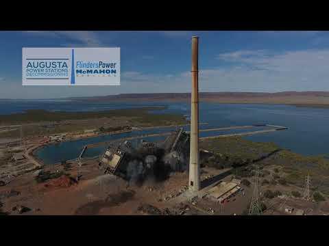 Northern Power Station Boiler Demolition 7