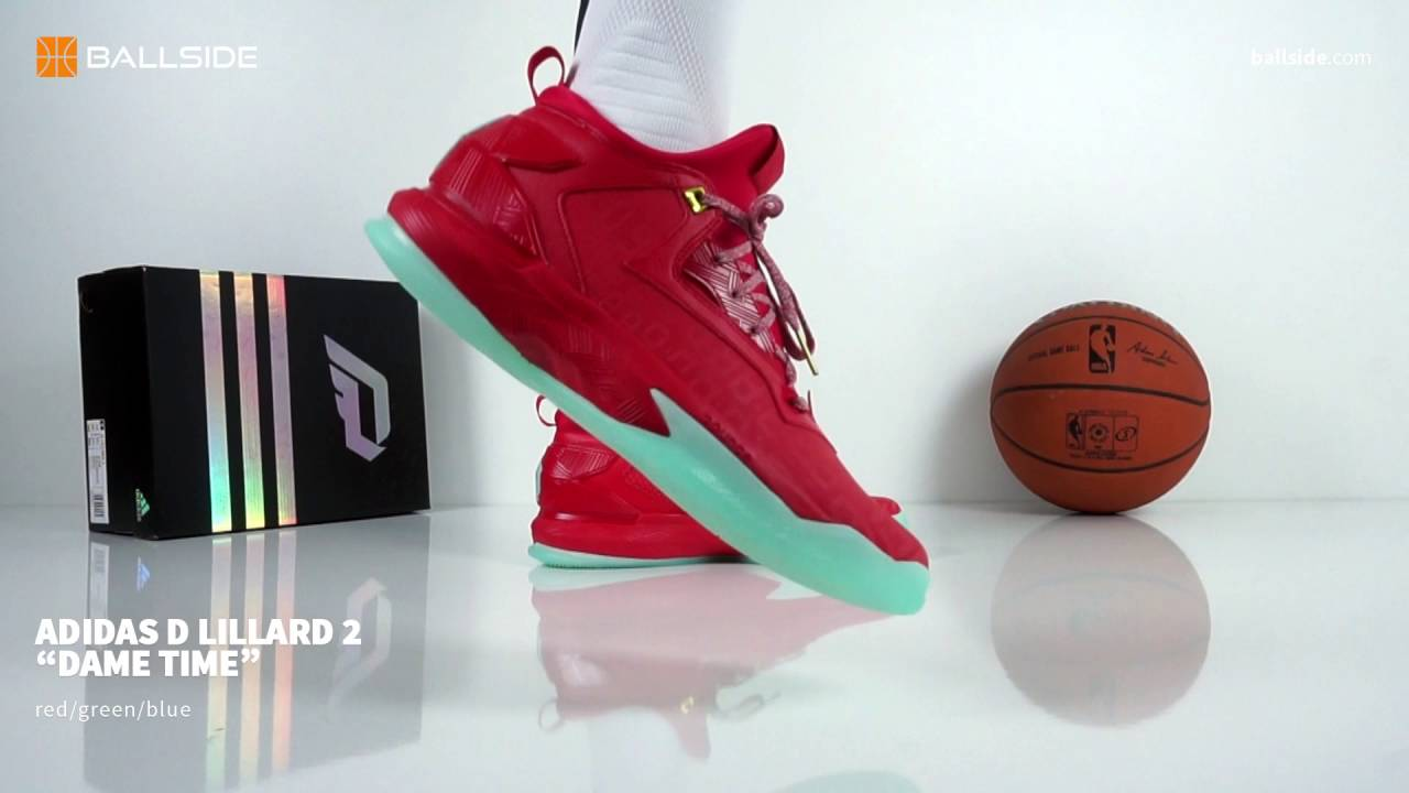sale retailer 95740 83591 adidas D Lillard 2 Dame Time on feet