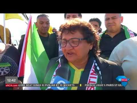 Jesse Duarte at Pro-Palestine march