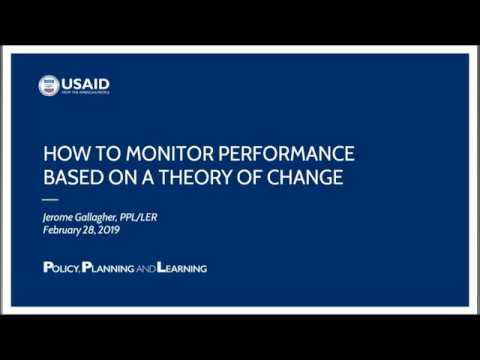 How To Monitor Performance Based On A Theory Of Change Webinar