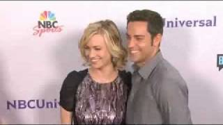 Zachary Levi and Yvonne Strahovski at NBC Universal Press Tour All Star Party 2011