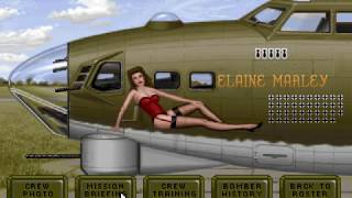 B-17: Flying Fortress (PC/DOS) Airfield Bombing, Elite, 1992, MicroProse ,SB/FM