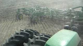 John Deere 9630 seeding with a 61' John Deere 1835 Airdrill