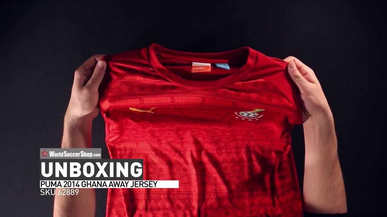 Puma 2014 Ghana Away Jersey - Unboxing. World Soccer Shop ea4bd1f8c