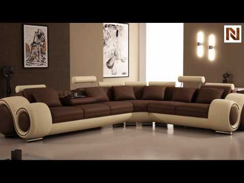 4087 Bonded Leather Sectional Sofa With Recliners Vgev4087 Bl From