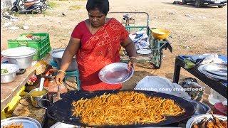Small Mora Fish Fry Making | Road Side Fish Fry | Street Food