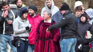 """Dustin Hoffman a Montepulciano per """"Medici: Masters of Florence"""""""