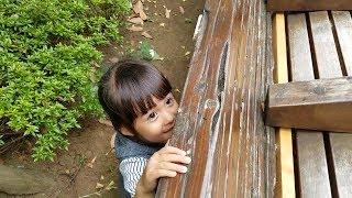 すみれ(3歳)はかくれんぼが大好きなんですが、いつもバレバレです(笑...