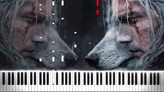 The Song Of The White Wolf (The Witcher) - Piano Cover/Tutorial - Piano Vampire видео