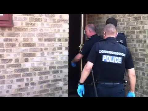 Police raid in Thetford