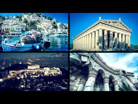 Popular sights of Athens Greece