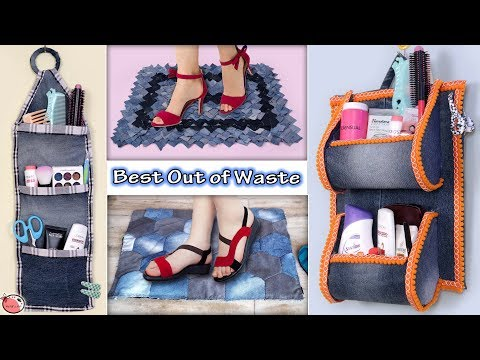 Reuse.. Old Jeans !!! 6 UseFull DIY Home Organization & Doormats Ideas