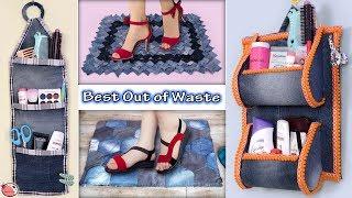 Reuse.. Old Jeans !!! 6 UseFull DIY Home Organization & Doormats Ideas