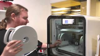 Installing Plastic into Cube Pro 3D printer at DigiLab Barking