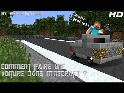 comment faire une voiture dans minecraft sixelagaming. Black Bedroom Furniture Sets. Home Design Ideas