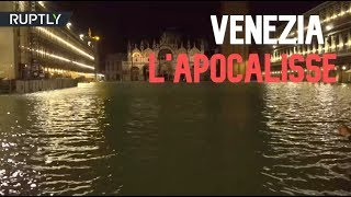 Venice flooded by the second-highest tide recorded in the city's history