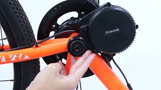 Bafang BBS02B 48V 750W Ebike Motor with LCD Display 8fun Mid Drive Electric Bike Conversion Kits