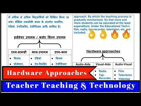 Forms Of Educational Technology / Hardware Approaches