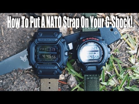 How To Put A NATO Strap On Your G-Shock!