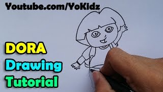 How to draw Dora