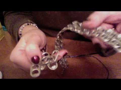 Crafting with Soda Tabs & bottle top garland